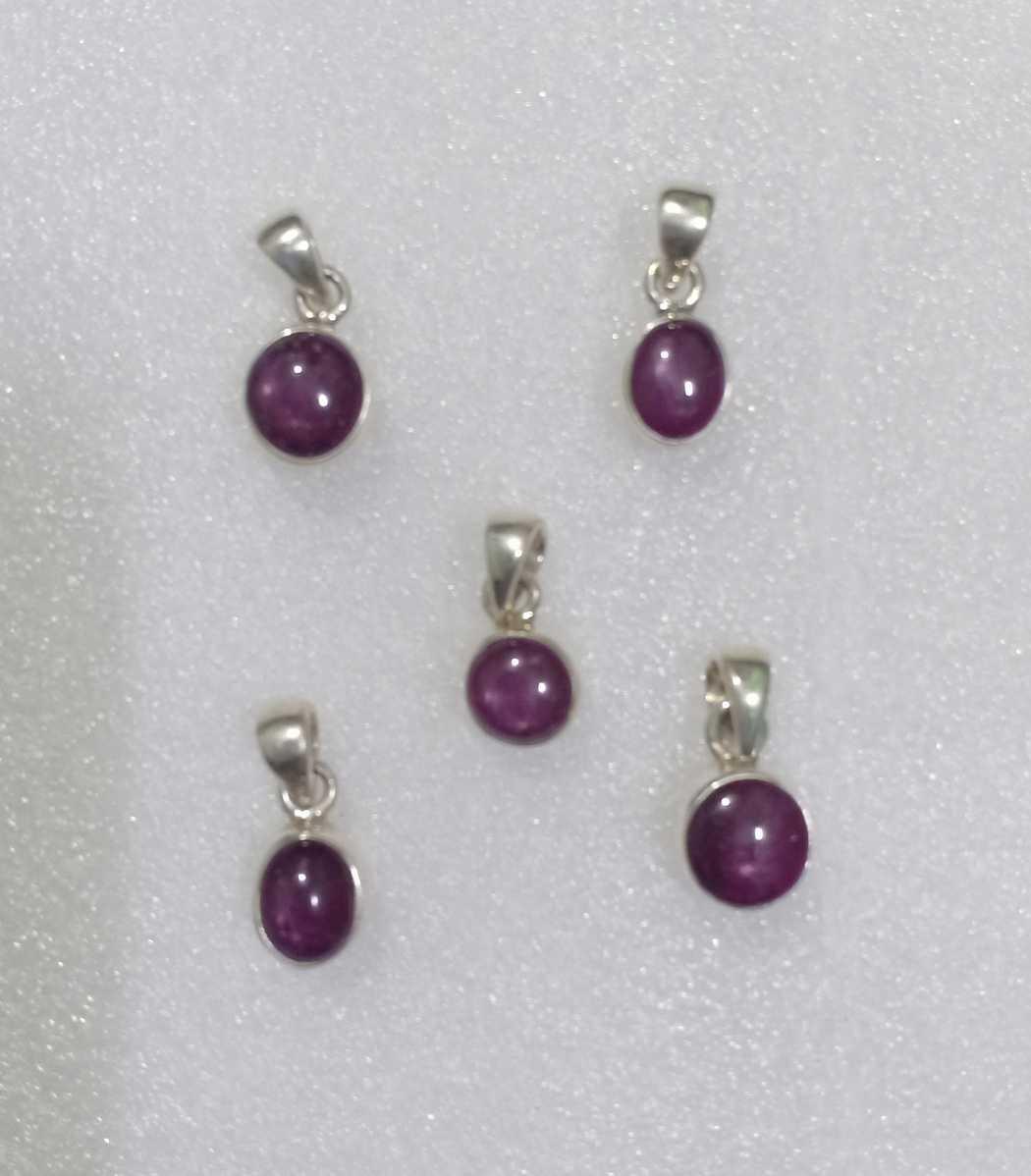 Amethyst pendants